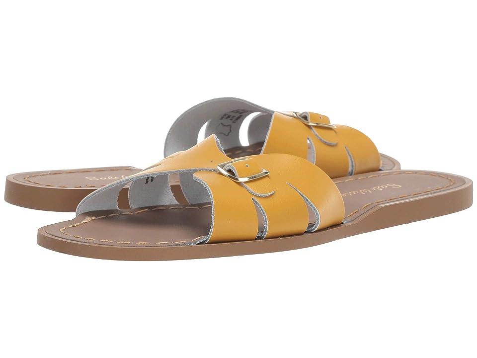 Salt Water Sandal by Hoy Shoes Classic Slide (Big Kid/Adult) (Mustard) Girls Shoes