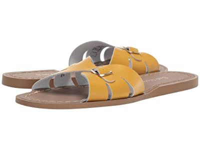 Salt Water Sandal by Hoy Shoes Classic Slide (Big Kid/Adult) (Mustard) Girls Shoes