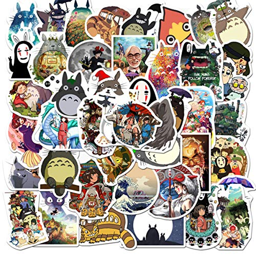 Lovely Totoro Miyazaki Hayao Stickers for Personalize Water Bottle Car Helmet Skateboard Luggage Bike Bumper Notebook Laptop Waterproof Graffiti Decals, Best Gift for Kids (Miyazaki Hayao)