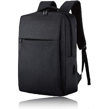 FOX FOUND ビジネスリュック USBポート デイバッグスリム リュック バックパック メンズ ビジネス 防水 15.6インチ ノート PC 収納 ブラック