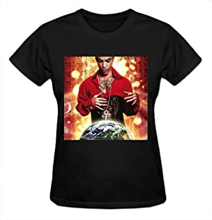 Planet Earth Prince Vintage T Shirts for Women Crew Neck