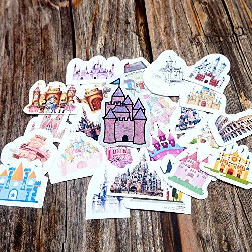 BLOUR 25pcs Cute Cartoon wasserdichte Aufkleber DIY Tagebuch dekorative Briefpapier Aufkleber Kinder Kinder Mädchen Jungen Schloss Geschenkaufkleber