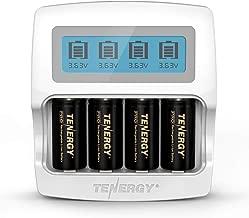 Arlo Certified: Tenergy PremiumHigh Capacity 750mAh 3.7V Arlo BatteryandSmart Fast ChargerforLi-ion RCR123A Rechargeable Batteryfor Arlo Cameras (VMC3030/VMK3200/VMS3330/3430/3530), 4-Pack