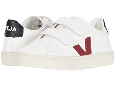 VEJA Kids Small Esplar Velcro (Little Kid/Big Kid) (Extra White/Marsala/Black) Kid