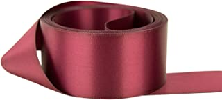 Ribbon Bazaar Double Faced Satin 7/8 inch Wine 25 Yards 100% Polyester Ribbon