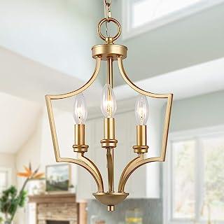 KSANA Matte Gold Modern Chandelier Small Pendant Light Fixture for Kitchen Island, Dining & Living Room, Foyer and Bedroom
