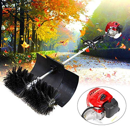 Relaxbx Gas Power Sweeper Bezem Kunstgras 2.3HP, 1700W, 52cc 2 Stroke gas/olie mengsel, Hand Held Power Sweeper Driveway Turf Sneeuw