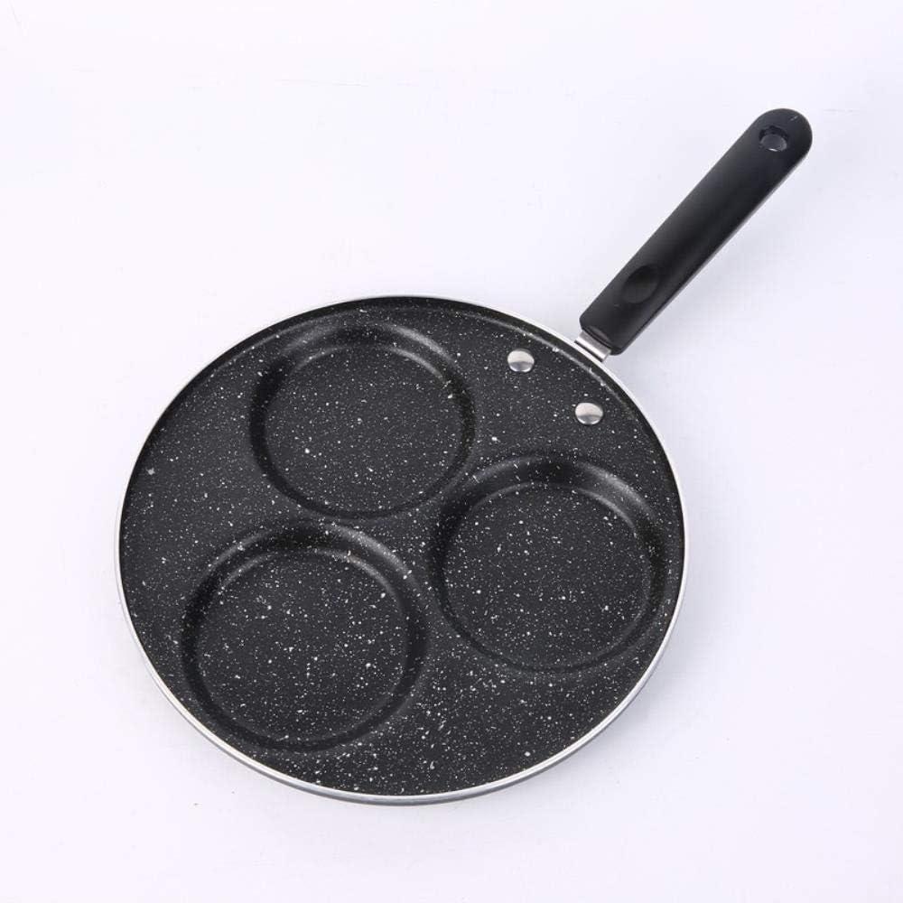 JPZCDK 1pc Pratique Omelette à Quatre Trous Moule à Cinq Trous Moule à crêpes Moule ménage antiadhésif œuf boulette Outil poché, Trois Trous 22 cm Three Holes 22cm