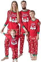 Jeash Matching Family Christmas Pajamas Set,Christmas Mommy &Daddy&Me Cartoon Snowmen Top+Pants Xmas Family Clothes Pajamas