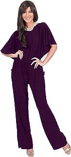 d3333f4177c KOH KOH Womens Short Sleeve Long Pants Suit Jumpsuit Playsuit One Piece  Romper