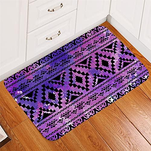 OPLJ Tapetes de Alfombra Estampados geométricos, alfombras de Pasillo, tapetes de Colores, tapetes Lavables para Exteriores A4 50x80cm