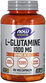 NOW Foods L-Glutamine 1,000 Milligram, 120 Capsules
