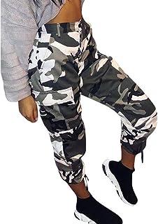 Pantalones Camuflaje Senderismo Deportivos para Mujer Verano 2018 Casual Tallas Grandes Pantalon Trekking Cintura Alta Deportivas Yoga Pantalon Jogger 3/4 señora