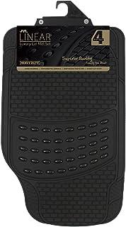 JVL 01-322 Alfombrillas de goma para el coche Luxury (4 unidades), Negro