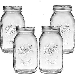 32 oz Bundle for Ball Mason Jars Set of 12 Glass Canning Jars - Canning Glass Jars with Lids