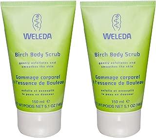 Weleda Birch Body Scrub, Organic Exfoliating Body Wash, 5 Oz. Each (Pack of 2)