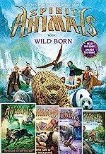 Spirit Animals Set of 5 Books: #1 Wild Born Spirit Animals #2: Hunted Spirit Animals #3: Blood Ties Spirit Animals #4: Fire and Ice Spirit Animals #5: Against the Tide
