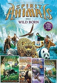Spirit Animals Set of 5 Books  #1 Wild Born Spirit Animals #2  Hunted Spirit Animals #3  Blood Ties Spirit Animals #4  Fire and Ice Spirit Animals #5  Against the Tide