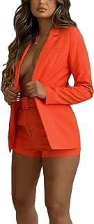 Achinel Women's Notched Lapel Blazer Open Front Jacket Coat Work Formal OL Outwear Top