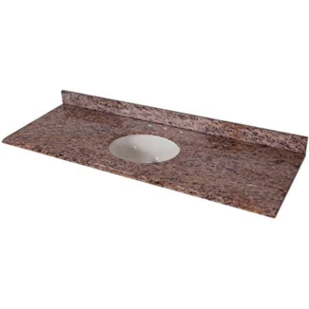 St Paul 61 In Stone Effects Vanity Top In Santa Cecilia With White Bowl Vanity Sinks Amazon Com