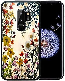 Samsung Galaxy S9 Plus Case, Customized Black Soft Rubber TPU Case For Back Cover for 6.2 Inch Galaxy S9+ / S9 Plus 2018 Flowers are blooming even the twilight coming