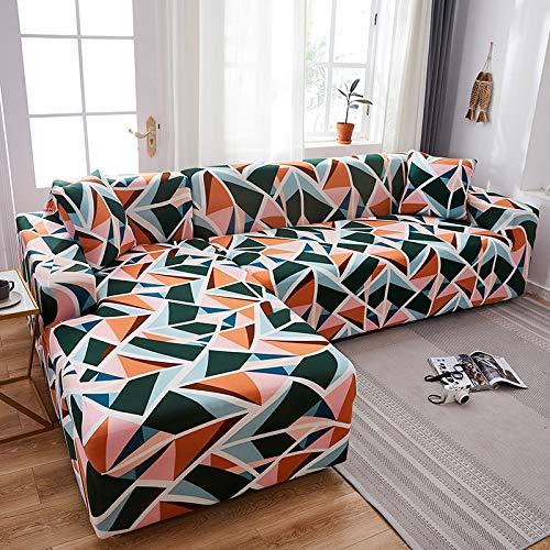 Fundas de sofá en Forma de L para Sala de Estar Material elástico sofá de Esquina Funda de Silla Funda de sofá sofá seccional A15 1 Plaza