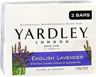 Yardley London Moisturizing Bars English Lavender With Essential Oils 8.50 oz (Pack of 2)