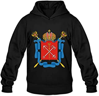 Coat Of Arms Of Saint Petersburg Nerd 100% Cotton Long Sleeve Sweatshirt For Mens