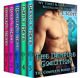 The Vampire Coalition: The Complete Collection Boxed Set (Ethan's Mate, Rory's Mate, Nathan's Mate, Liam's Mate, Daric's Mate) by [J. S. Scott]
