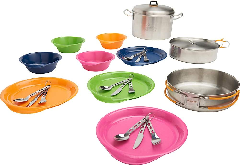 Kelty Camp Kitchen - Award-winning store 4 Person Camping Po Cookware Japan's largest assortment Set Includes