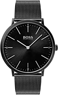 Hugo Boss Men's Black Dial Stainless Steel Band Watch - 1513542