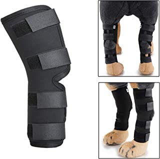 wedawn Canine Dog Real Leg Hock Joint Brace Wrap Protects Wounds as They Heal Compression Wrap, Heals, Prevents Injuries, Sprains Helps with Loss of Stability Caused by Arthritis