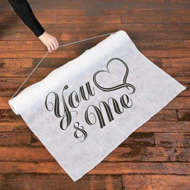 Fun Express 13654427 Cotton You and Me Wedding Aisle Runner