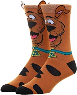 Scooby Doo Socks Men's Adult Crew Socks with Scooby Ears