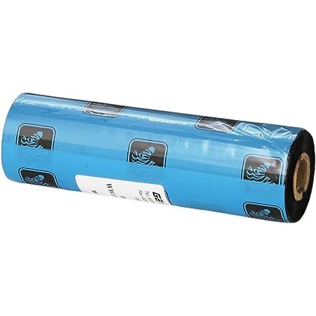 """ZEBRA - WW110X74C0.5-1ZZ4 Zebra thermal transfer ribbon 4.33"""" x 244' / 110mm x 74m wax Black"""