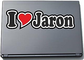 INDIGOS UG - 'I Love Serce' Naklejka Skóra laptopa 210 mm - I Love - I Love Jaron - Laptop netbook komputer - naklejka z i...