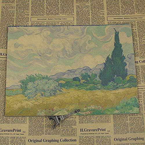 panggedeshoop Van Gogh Sunflower Oil Painting Star Xinghua Poster 40X50Cm -Sz1151
