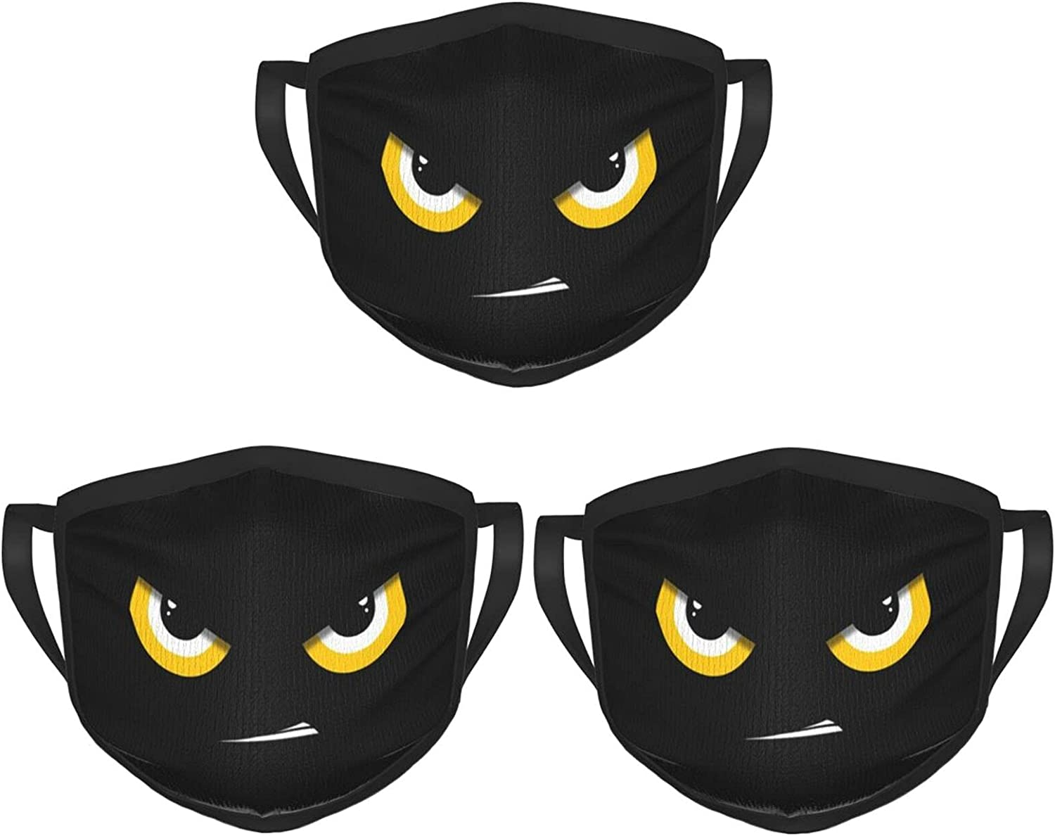 Balaclava Earmuffs Night Animals With Glowing Eyes Face Mouth Cover Mask Reusable Windproof Scarf Towel Cover Headwrap
