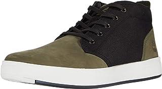حذاء Chukka مصنوع من الجلد والجلد والجلد والجلد والجلد الصناعي من Timberland Davis ذو لون أخضر غامق/أسود 10. 5