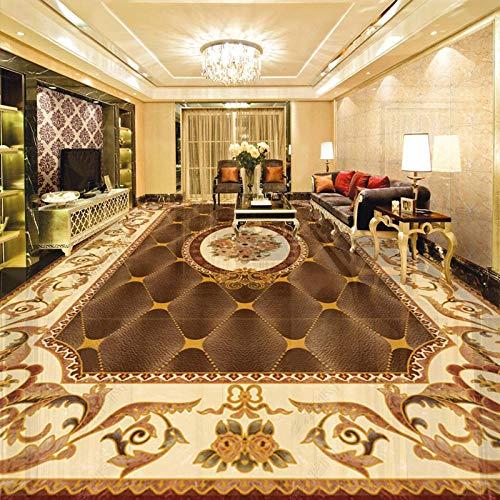 Papel pintado de suelo de estilo europeo 3D Patrón de mármol Mural Sala de estar Hotel Cocina PVC Autoadhesivo Impermeable 3D Pegatinas de suelo-250 * 175cm