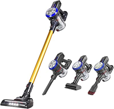 Dibea Cordless Stick Vacuum Cleaner 15Kpa Suction Lightweight Rechargeable 2 in 1 Handheld Car Vacuum with Mini Motorized Brush for Hard Floor, Carpet
