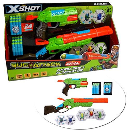 Zuru X-Shot Bug Attack, Combo Rapid & L21 Eliminator Toy