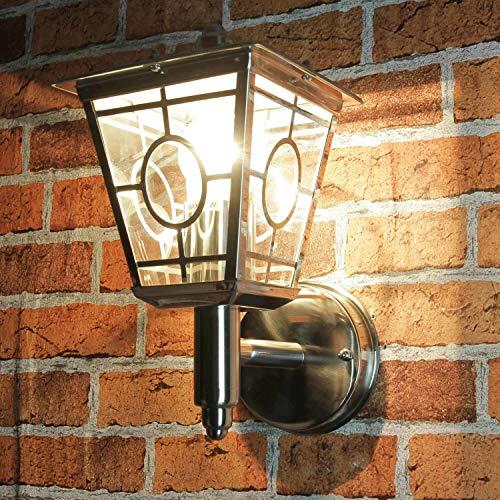 Stijlvolle wandlamp RVS glas buiten H: 29cm E27 verlichting buitenlamp balkon terras tuin