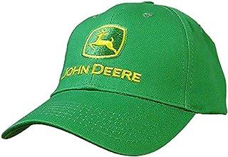 قبعة بيسبول بشعار العلامة التجارية John Deere للرجال، أخضر، شعار أصفر، مقاس واحد