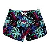 Honeystore Women's Casual Swim Trunks Quick Dry Print Boardshort Beach Shorts Lbp-6052 L
