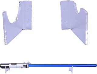 LEKUSHA Clear Horizontal Light Saber Holder Wall Mount Rack Hook Stand, Compatible for Any Lightsaber Display - Hardwares Included