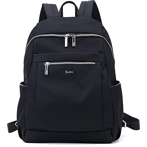 Women's Nylon Backpack Daypack Large Casaul Daypack Travel Outdoor Sport, Laifu (black)