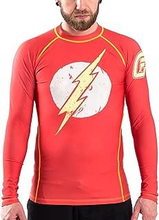 Fusion Fight Gear The Flash Distressed Logo Compression Shirt BJJ Rash Guard