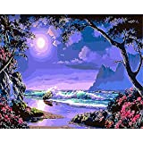 BAISITE Kid's Paint by Numbers for Adults, pittura a olio fai da te, 16 x 20 pollici con p...