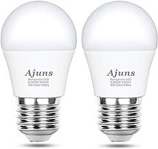 LED Refrigerator Light Bulb, 40W Equivalent 120V A15 Fridge Freezer Waterproof Light Bulb, Used for Home Lighting Such as Freezer, Kitchen, Bathroom, etc. Non-dimmable E26 5W White 5000K 2pack